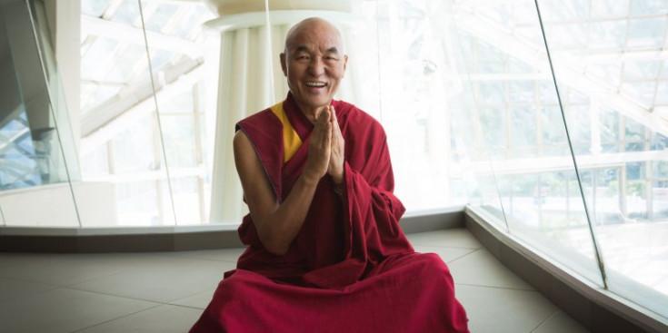 El monjo tibetà Thubten Wangchen, durant la seva visita a Caldea la setmana passada.