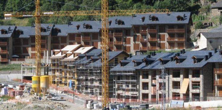 Zona a mig construir a Espui, a la Vall Fosca.